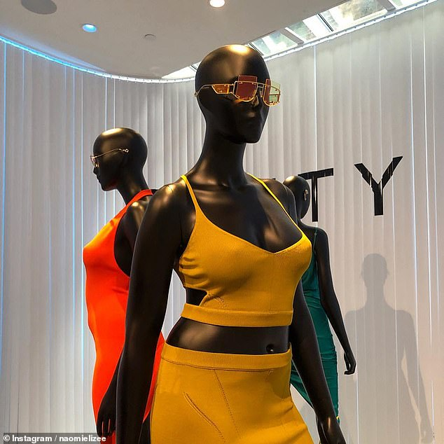 mannequins at Fenty pop-up shop